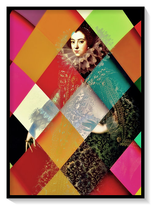 Cameo Spanish Queen in Geometric Illusion