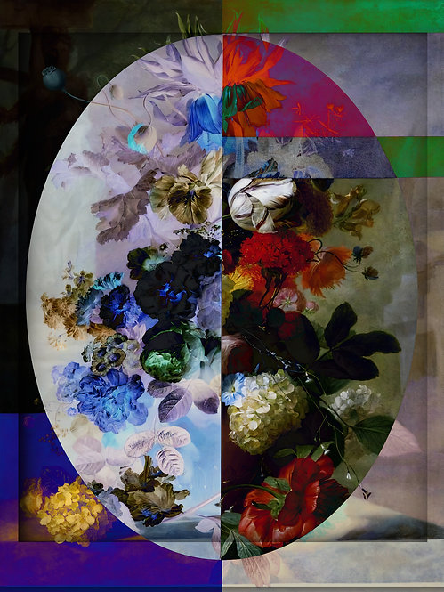 Geometric Flowers three - MetallicRoyale