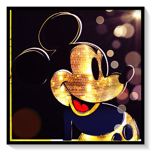 Cameo - Gold Mirror Ball Mickey