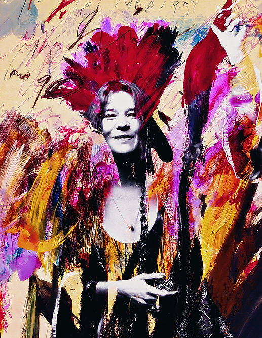 Janis in flowers - Cameo