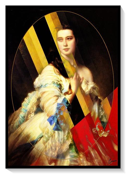 Cameo Russian Princess in Geometric life