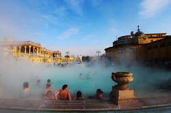 Széchenyi fürdő télen