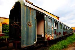 A századelős Istvántelki Főműhely nemzetközi járatának hálókocsi vagonja - urbex