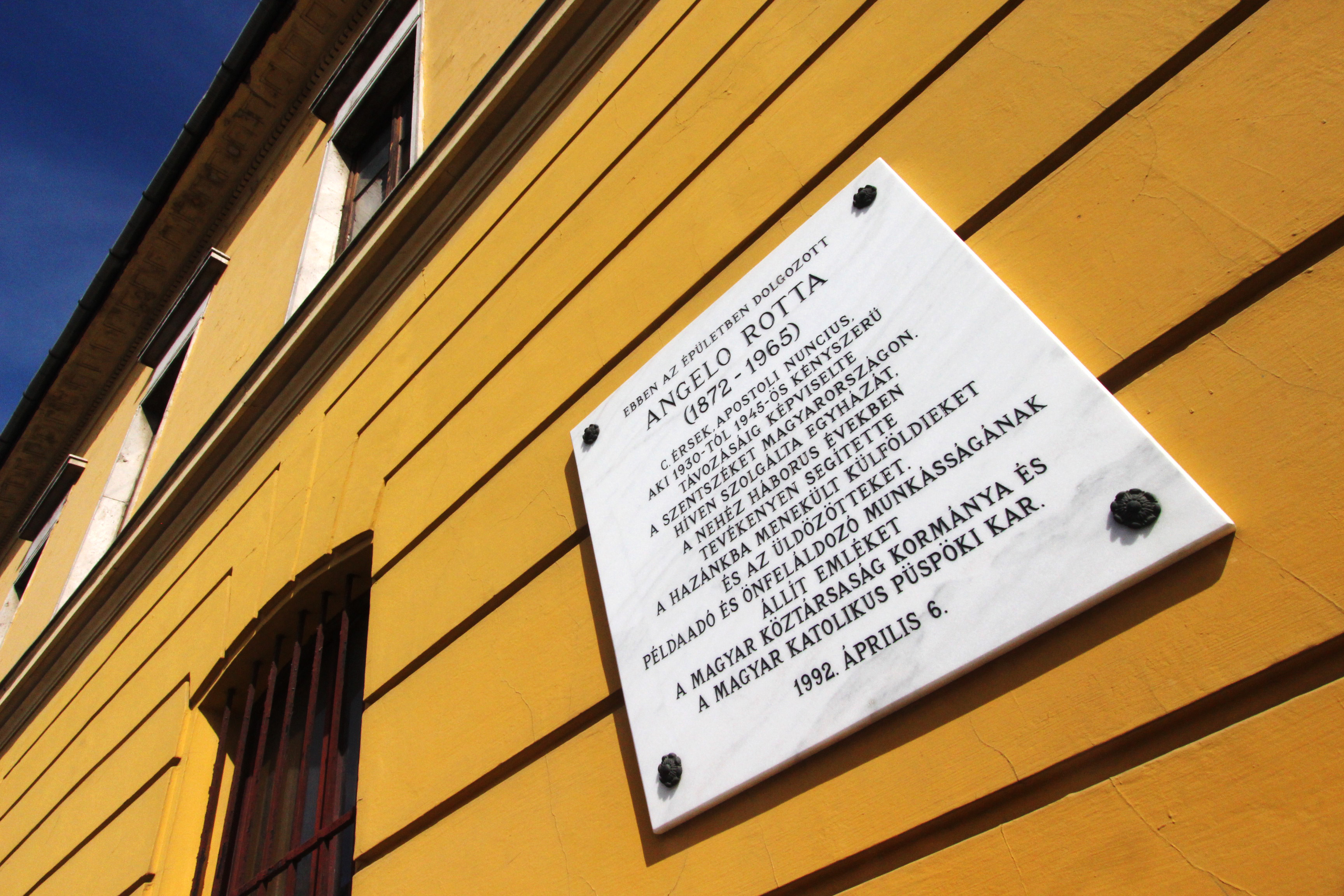 Angelo Rotta ház a Budai Várnegyedben