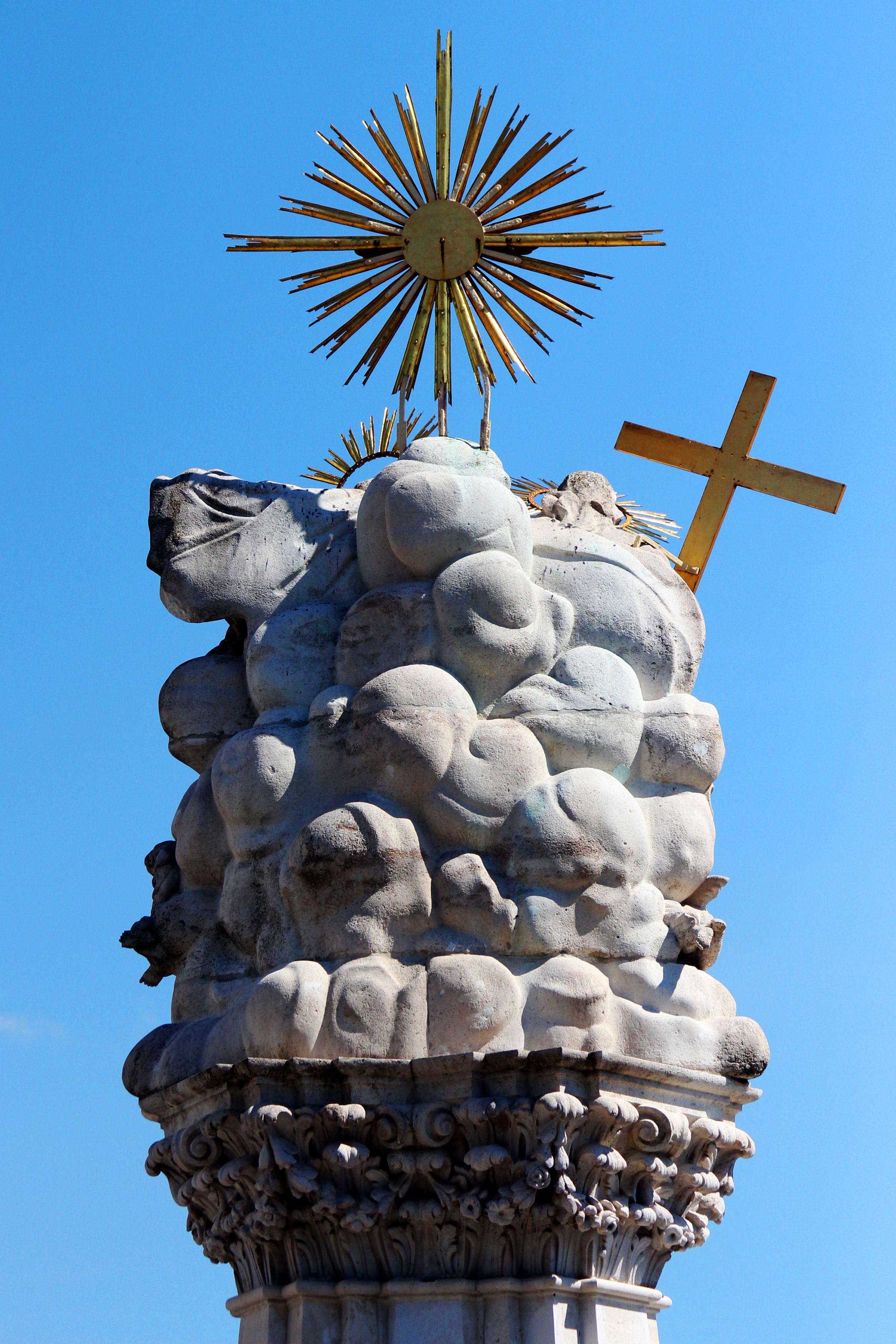 Szentháromság szobor a Budai Várban