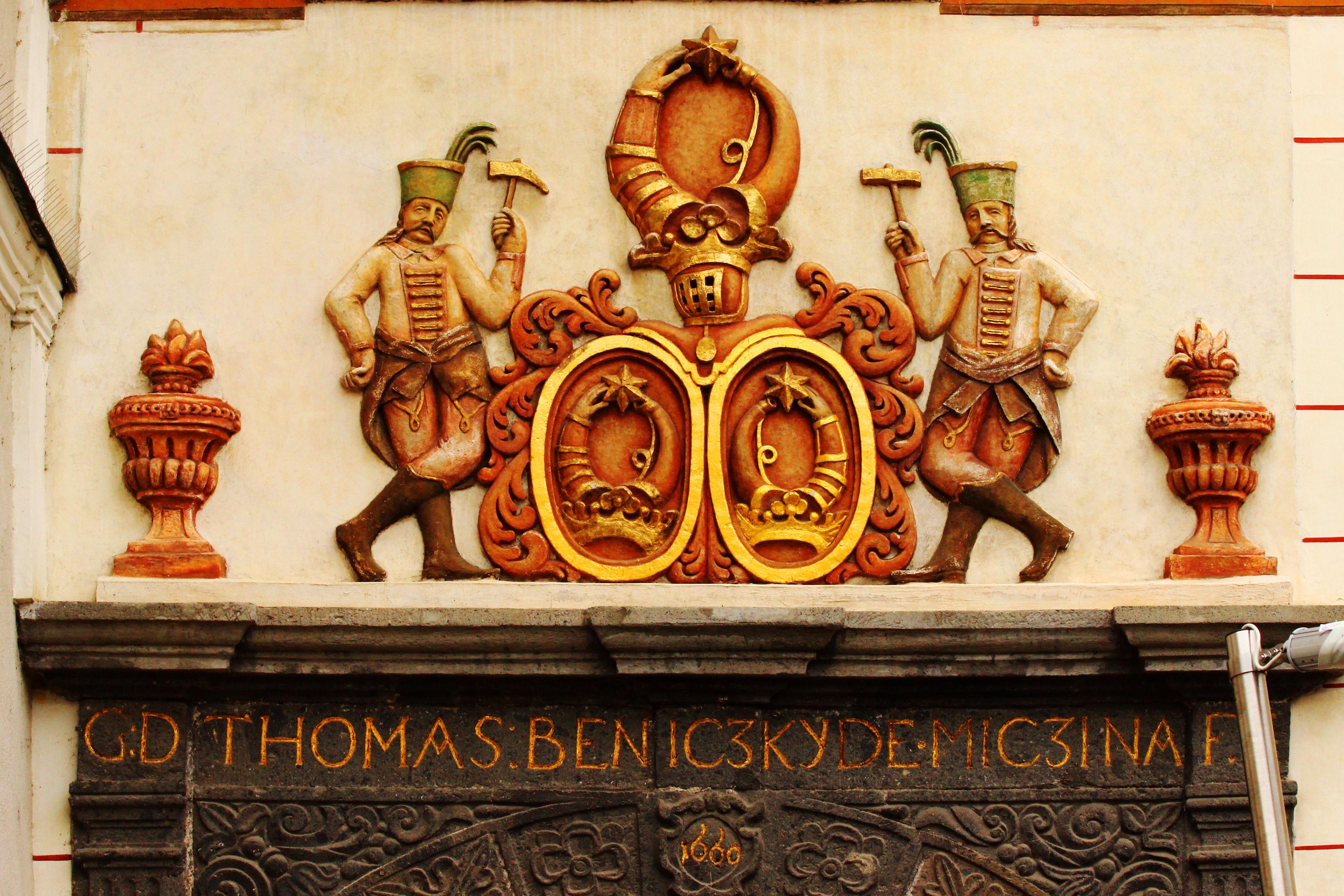 Besztercebánya - Beniczky Tamás házának címere