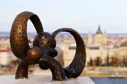 Kolodko miniszobor - Kockásfülű nyúl