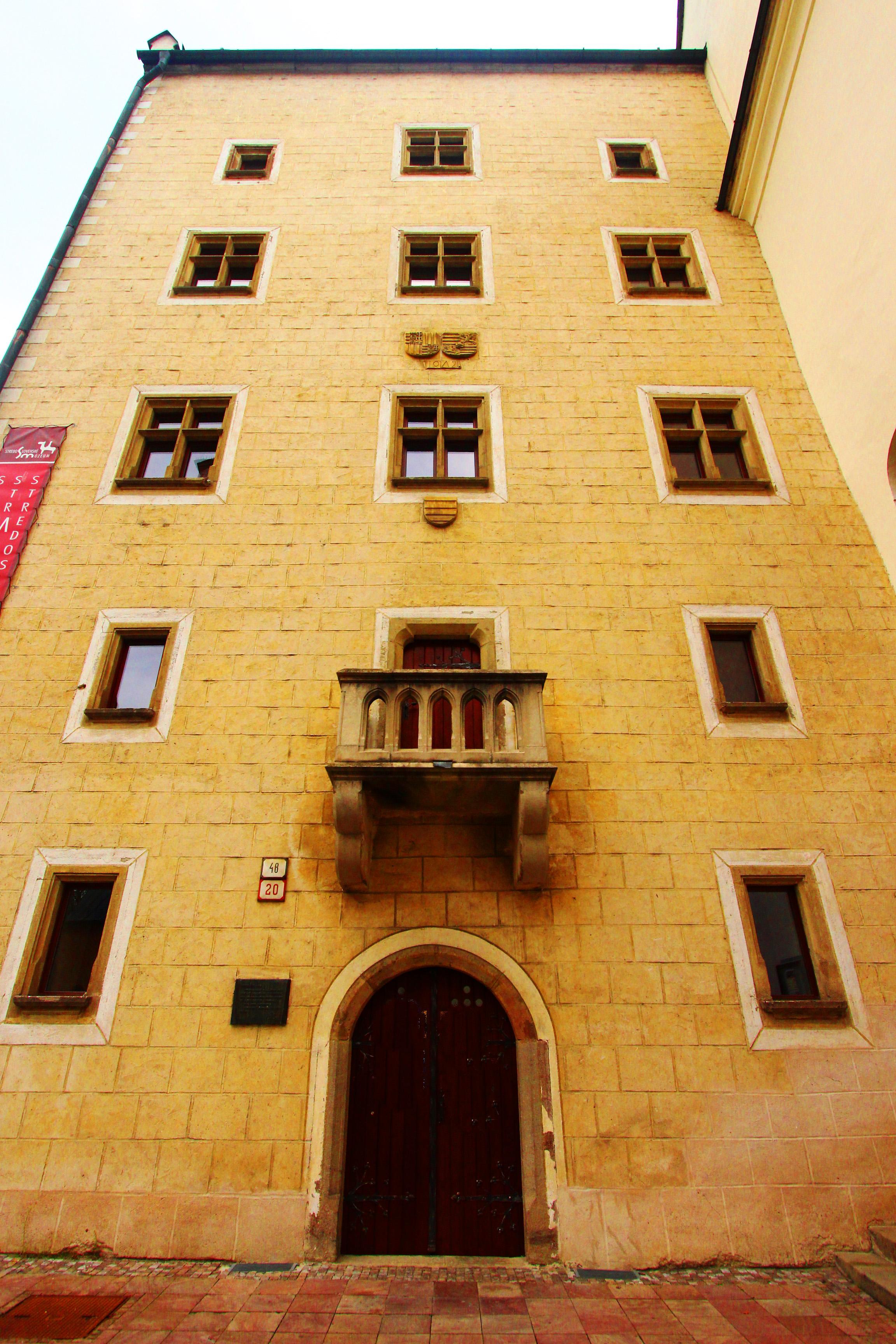 Besztercebánya - Mátyás király háza