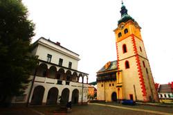 Besztercebánya - Régi városháza és a Német templom