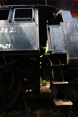 424.262-es gőzmozdony az Istvántelki Főműhelyben - urbex