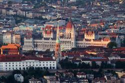 Kilátás a Széchenyi-hegyi kilátóról