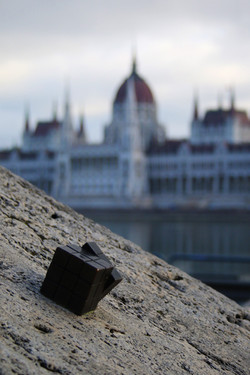 Kolodko miniszobor - Rubik-kocka