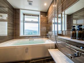 リエッタ中山には、大きなお風呂とシャワー室の2室、トイレが2室、洗濯機やガス乾燥機が全室設置されております。お部屋は広い和室と洋室のお部屋です。家族からグループ合宿など皆様でぜひナゴ市にご宿泊下さい。