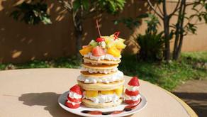 トロピカル王国物語、絵本の中のかわいいスイーツが食べたい!!という声から生まれたパンケーキ。フルーツランドお勧めのスイーツです。テーマパークを冒険して謎を解き王様を助け出そう。沖縄の北部名護です。