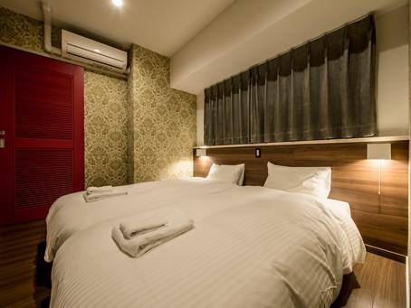 トロピカル王国物語のコンセプトルームは、かわいいお部屋です。お一人様から家族やグループ団体でも宿泊できます。ツインのベットルームが2部屋ございます。子供達や女子会も楽しく過ごせます。ご予約はHPより