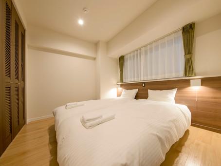 リエッタ中山は広いお部屋が特徴です。家族団欒もいいですが静かなスペースも大切ですね。プライベートを守れるベットルームがございます。またお布団が6セットご用意しておりますので楽しく眠る事もできます。