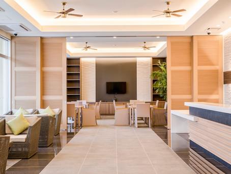リエッタ中山にはロビーラウンジがあります。フリーWIFI対応です。お二人やご家族、グループからスポーツ合宿までご幅広くご利用できます。沖縄県名護市でホテルにお泊まりの際はぜひご利用ください。