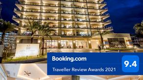 沖縄フルーツランドのお隣コンドミニアムホテルナゴリゾートリエッタ中山がBooking.com Traveller Review Awards 2021にて9.4の評価を頂きました。ありがとうございます