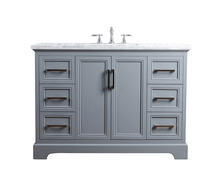 "Ariane 48"" Slate Gray Single Vanity Single Sink"