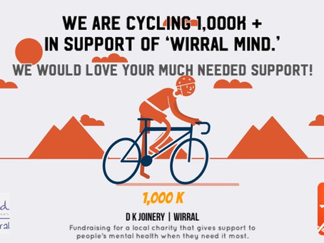Help Support Our 1,000k Cycling Fundraiser for Wirral Mind!