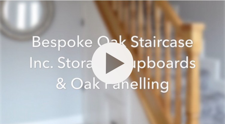 Bespoke Imperial Oak Staircase Inc. Storage & Oak Panelling - Bebington, Wirral, Merseyside - D K JOINERY - Wirral