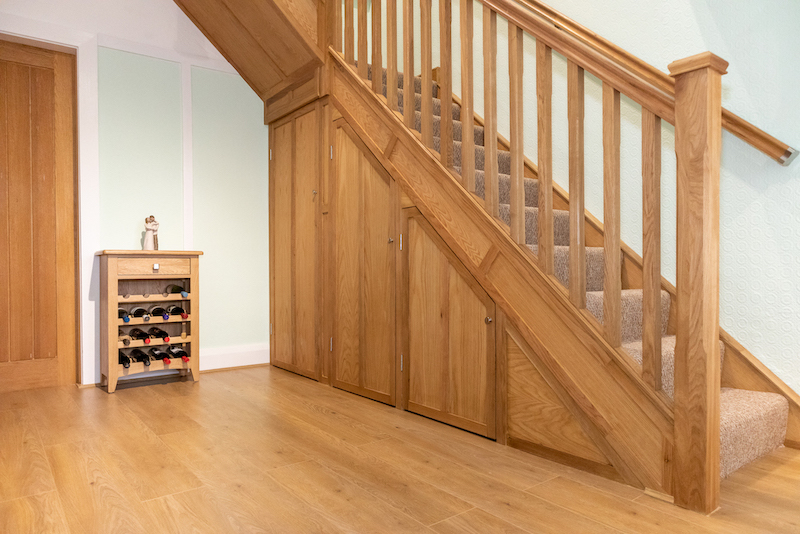 Bespoke Oak Staircase Inc. Storage