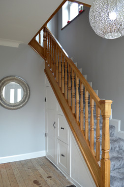Bespoke Imperial Oak Staircase Inc. Storage & Panelling