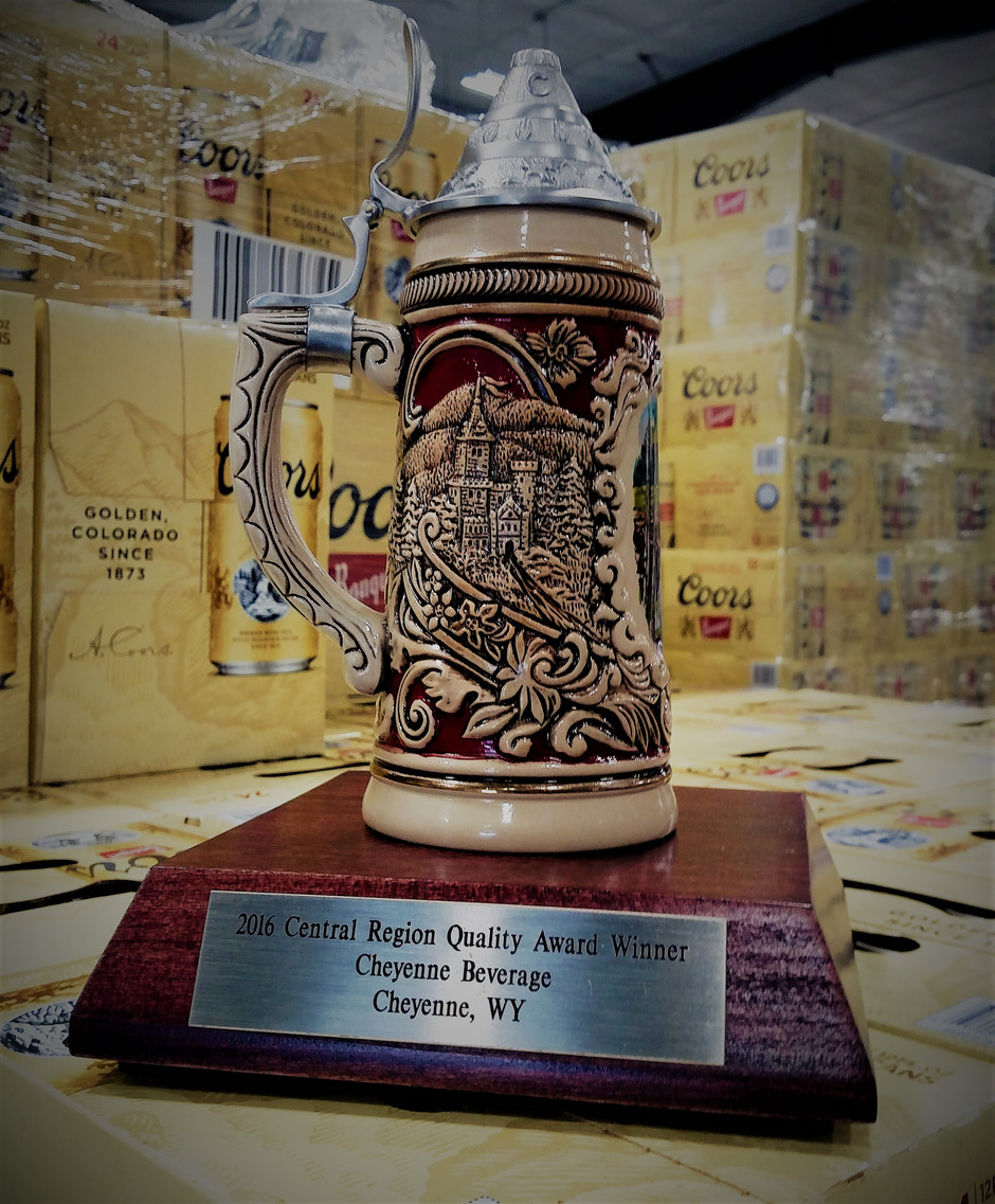 Cheyenne & Laramie Beverage Wins 2016 Coors Quality Award
