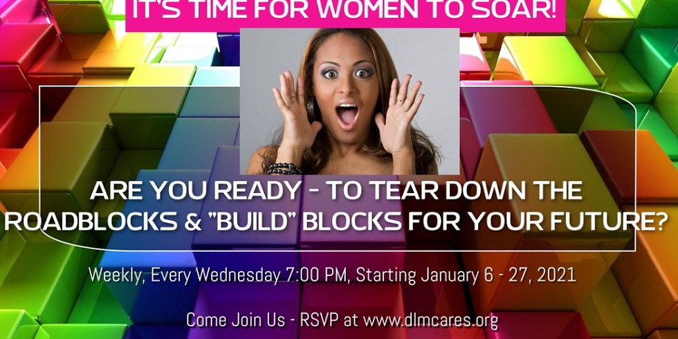 """It's Time For Women to Soar!  Are YOU Ready - To Tear Down the Roadblocks & """"Build"""" Blocks for Your Future? (1)"""