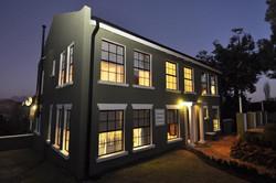 Manor at night