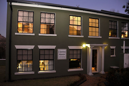 Clarens Manor at dusk