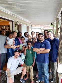 Volunteers from Corning Inc.