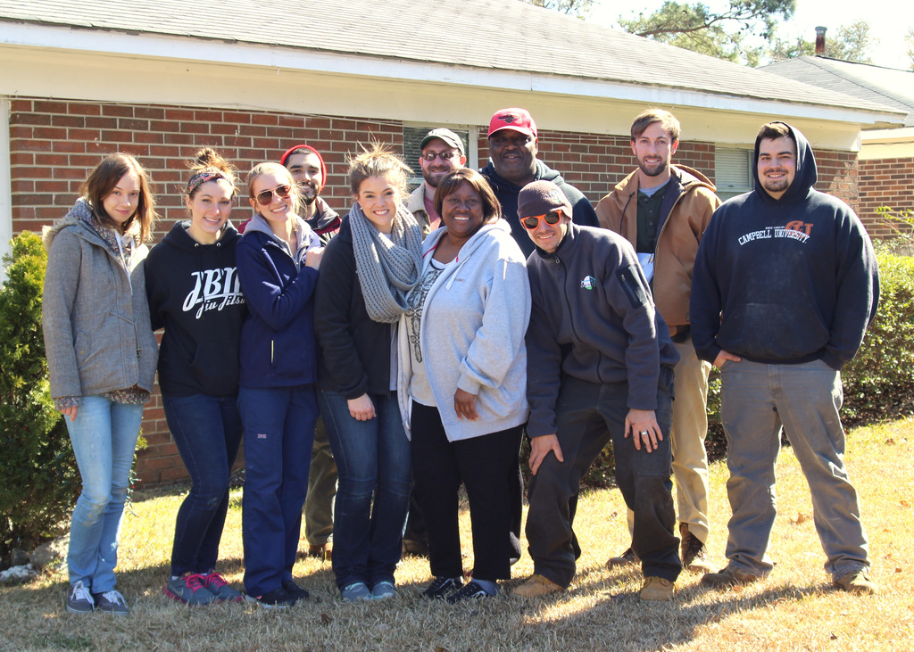 Volunteer Crew with Homeowner