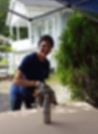 WARM NC Volunteer sawing
