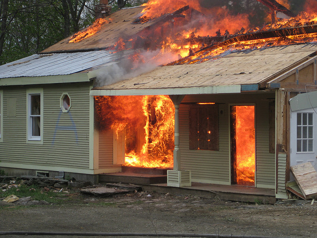 House fire- October is Fire prevention month