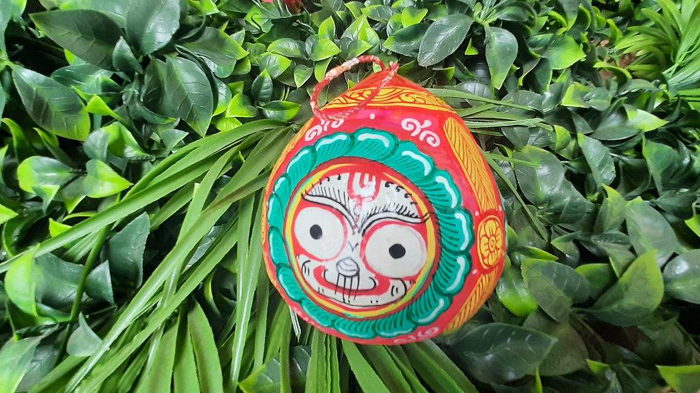 Pattachitra Coconut - Jagannathji Design