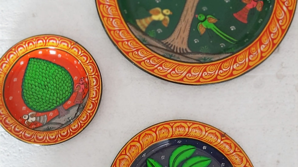 Pattachitra Wall Plates (Set of 3)