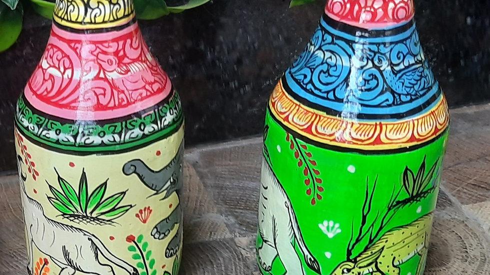 Pattachitra Bottles- Nature Design - Small