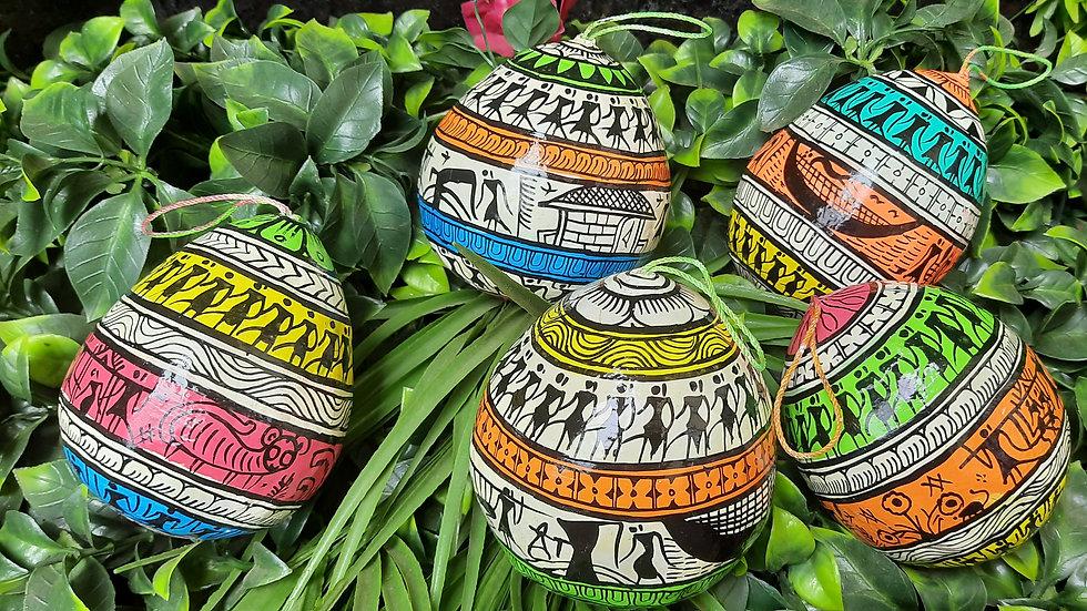 Pattachitra Coconut - Tribal Design