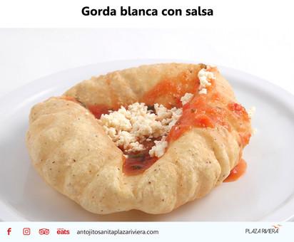 Gorda blanca con salsa