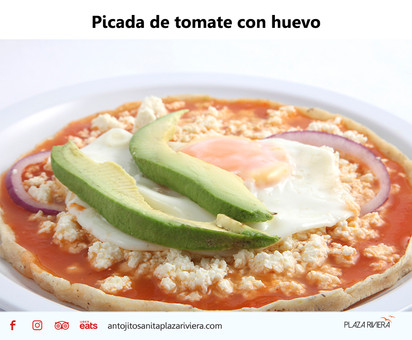 Picada de tomate con huevo
