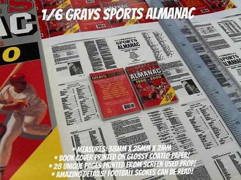 Miniature 1/6 Gray Sports Almanac