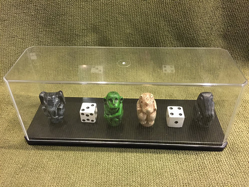 Jumanji Game Pieces and Tokens (In Display Case)