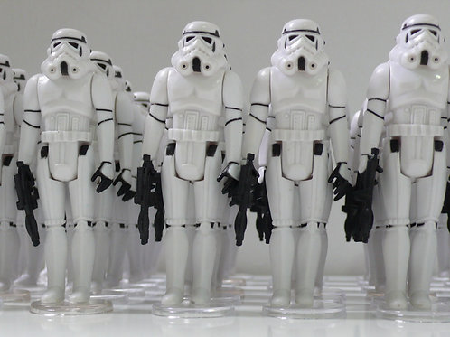 10X Custom Vintage Star Wars White Stormtrooper ( Army Trooper Builder )