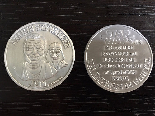 Reproduction Vintage 1984 POTF Power of the Force Silver Anakin Skywalker Coin