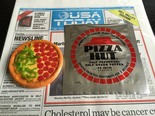 BTTF2 - Pizza Hut Pizza + Foil Bag Prop