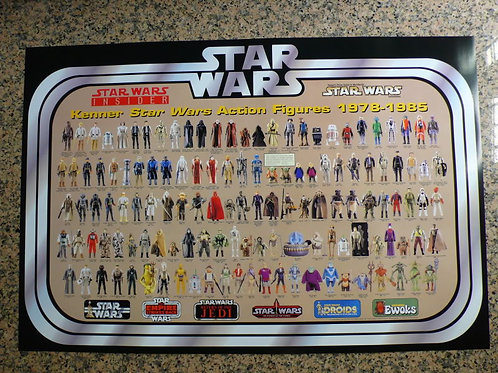 Fan Club Vintage Kenner Figure Poster