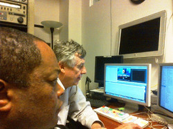 Producer Director Frazier and Chief Editor Jim Markovic in NYC Ali Project