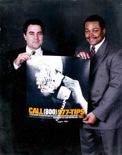 Frazier Prince w Gregg Roberts NYC Police Foundation. Crime Stoppers Campaign 001