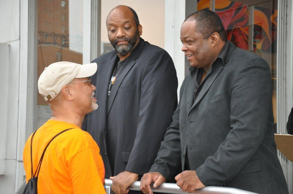 Filmmaker Warrington Hudlin, Producer Ralph White  and Frazi